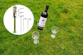 groundlevel summit wine and glass holder stake