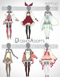 Design Clothes Anime Adopt 2 Outfit Designs Auction Closed Winner By