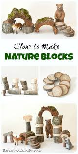how to make waldorf inspired nature building blocks for children diy toy tutorial
