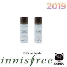 korean cosmetics innisfree my makeup cleanser micellar oil water 25ml set of 2