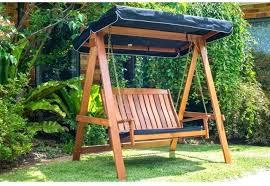 swing canopy 2 seat swing chair bench outdoor garden backyard patio porch wood canopy wooden swing