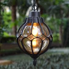Outdoor Globe Pendant Light European Outdoor Waterproof Pendant Light Retro Aluminum