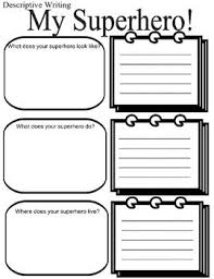 Narrative Story Template Superhero Writing Writers Workshop W 2 5 Printables No