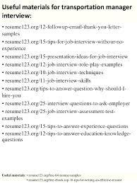 Transportation Resume Examples Transportation Logistics Manager Resume Sample Broker Job