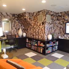 carpet squares for basement home office with contemporary custom woodwork basement home office
