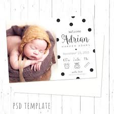 Baby Girl Birth Announcements Template Free Template Baby Girl Announcement Card Template Free Birth Best