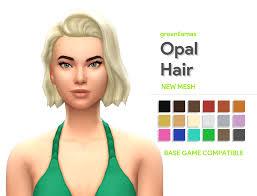 Opal Hair - greenllamas | greenllamas on Patreon | Opal hair, Sims 4, Sims