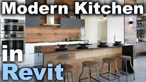 Modern Kitchen In Revit Tutorial Youtube