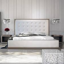 modloft ludlow  piece platform bedroom set in walnut and white