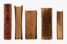 yellowish old books books spine book png image and clipart