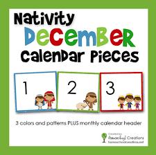 Free Printable Pocket Chart Cards Nativity Pocket Chart Calendar Cards Free Printable