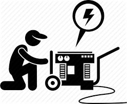 power generator icon. Simple Power Electric Engine Generator Machine Man Motor Power Icon For Power Generator Icon O