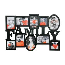 family heritage 10 opening black collage picture frames for wall decoration ideas