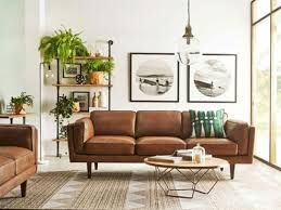 full size of living room attractive mid century modern living room brown leather sofa geometric