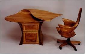 desk chair wood. Sculptured Art Furniture Desk Chair Wood I