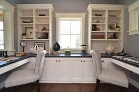 home office built ins. Home Office Built Ins Traditional With Gray Walls White Cabinets Trim