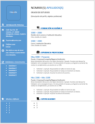 Formatos De Curriculum Simple