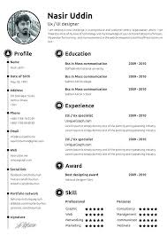 The Modern Resume Awesome Best One Page Resume Template Free Templates Modern Download Idea
