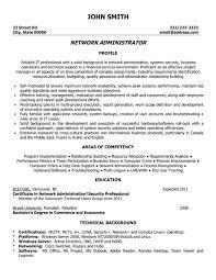 Network Administrator Sample Resume Free Resume Templates 2018