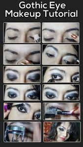 gothic eye makeup tutorial for wedding party
