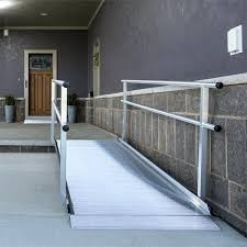 wheelchair ramps for steep stairs concrete