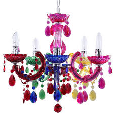 chandelier multi colour fast free delivery