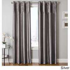 Silver Bedroom Curtains Faux Silk Curtains Ebay Sorbonne Ready Made Lined Eyelet