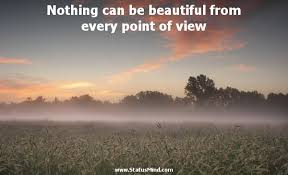 Beautiful View Quotes Best of Nothing Can Be Beautiful From Every Point Of View StatusMind