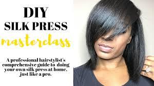 can a silk press damage your hair