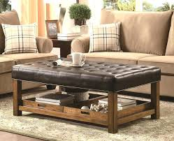 large leather ottoman coffee table coffee table square leather tufted modern wood coffee table metal mid large leather ottoman coffee table