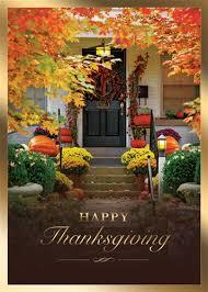 Autumn Home Thanksgiving Greeting Card