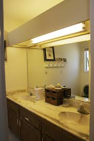 bathroom box old counter tops with ugly big fluorescent light box