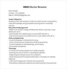 Indian Mbbs Doctor Resume Professional Resume Templates