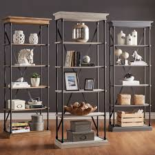 Keep your books, personal mementos and accessories neatly displayed on this  INSPIRE Q Barnstone bookcase. With five open shelves, it provides ample  storage ...
