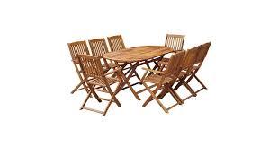 <b>9 Piece Folding Outdoor</b> Dining Set Solid Acacia Wood - Matt Blatt