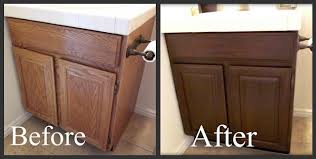 Restain Oak Kitchen Cabinets Beauteous Staining Oak Cabinets A Darker Color It Minimizes The Grain