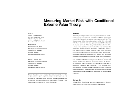 Abstract of Master Degree Dissertation  Measuring Market Risk with Conditional Extreme Value Theory  Author James Adjei Barimah Via del Carpentiere