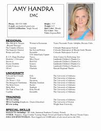 Actors Resume Format Simple Theatre Resume Templates 48 Images Musical Theater Download Acting R
