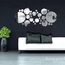 wall decor mirrors art circle mirror wall stickers acrylic vinyl decal home art decor mirror art