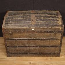 french wooden travel trunk 1950s for