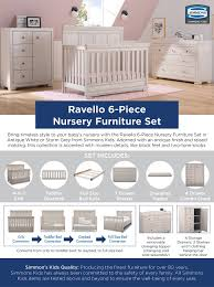 white furniture nursery. Bring Timeless Style To Your Baby\u0027s Nursery With The Ravello 6-Piece Furniture Set In Antique White Or Storm Grey From Simmons Kids. C