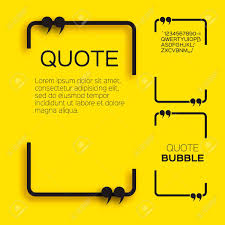 Quote Bubble Empty Citation Text Box Template Quote Blank