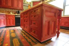 magnetic red antique kitchen island