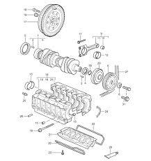 porsche 911 997 parts m97 01 m96 05 crankshaft