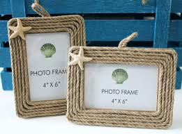 4x6 frame rope picture frames with starfish set of 2 mat 4x6 frame