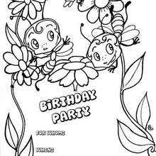 Small Picture Kids and animals birthday party invitation coloring pages