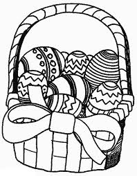 Small Picture Easter Basket of Eggs Coloring Pages Coloring Pages