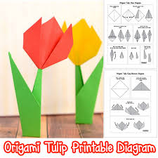 How To Make A Flower Out Of Paper Step By Step How To Make Origami Flowers Origami Tulip Tutorial With Diagram