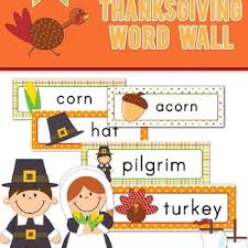 Thanksgiving Word Wall Cards Free Thanksgiving Words