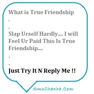 cute friendship sms in english